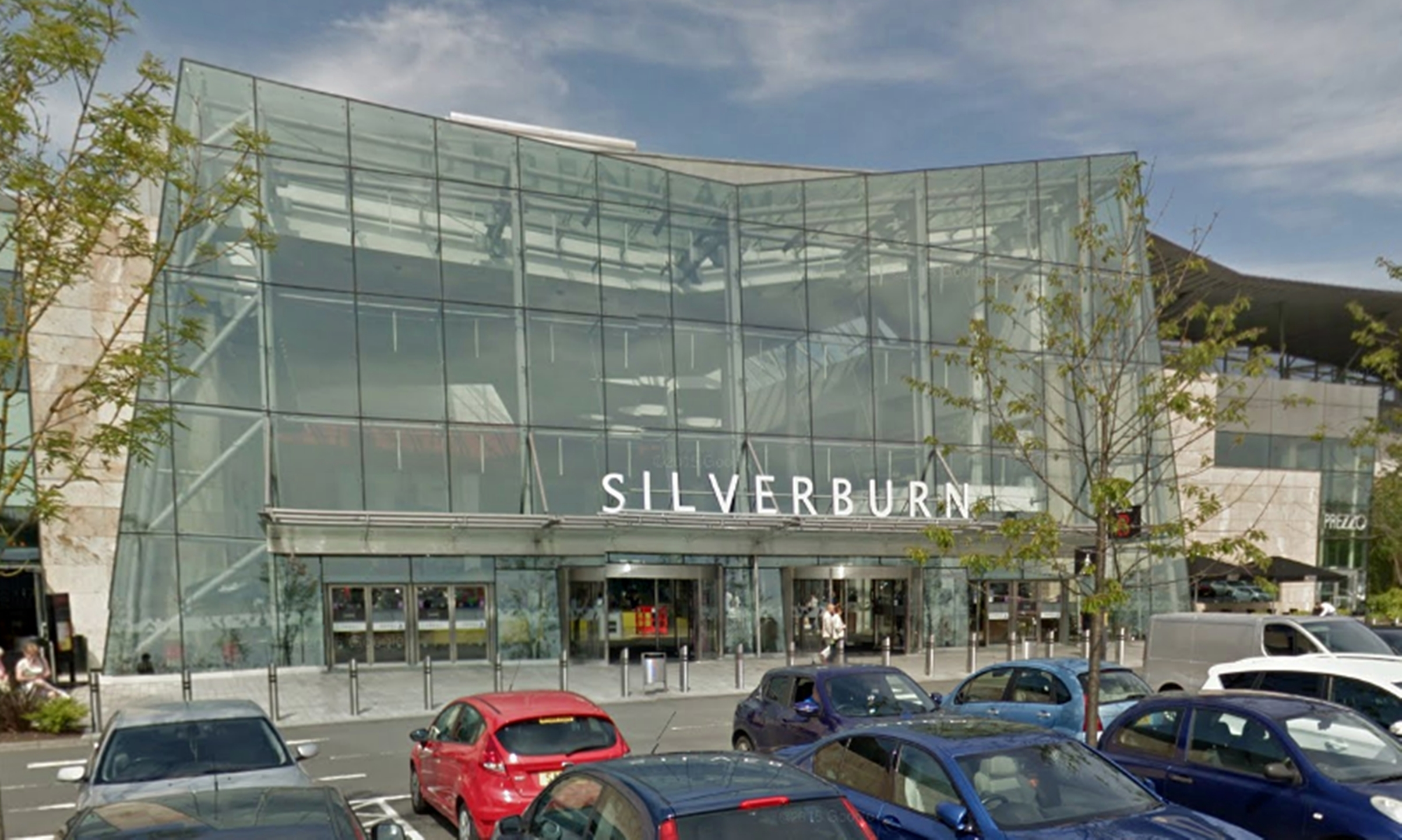 Shoppers have reported seeing a shadowy figure lurking at the Silverburn centre .