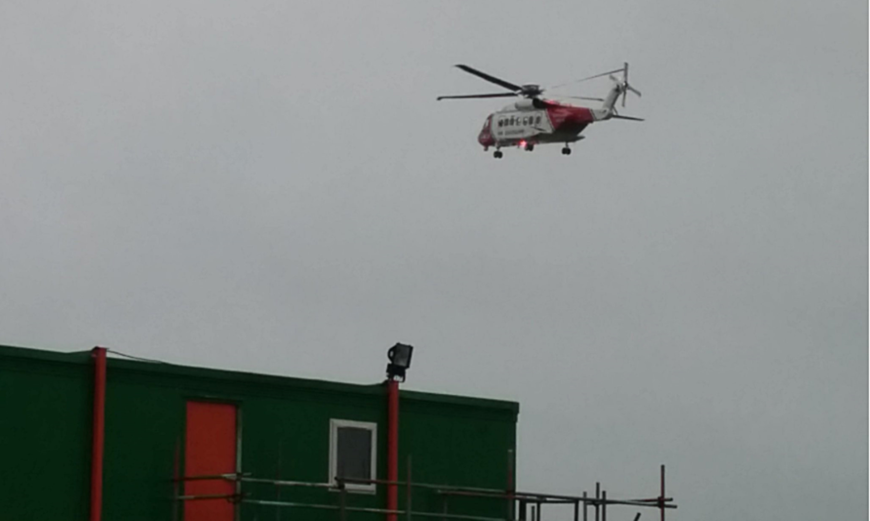 A coastguard helicopter searches the Tay earlier this month.
