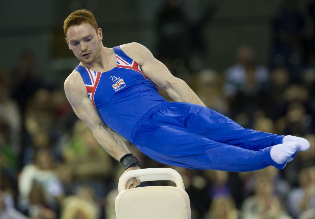 Daniel Purvis competing at the Gymnastics World Cup