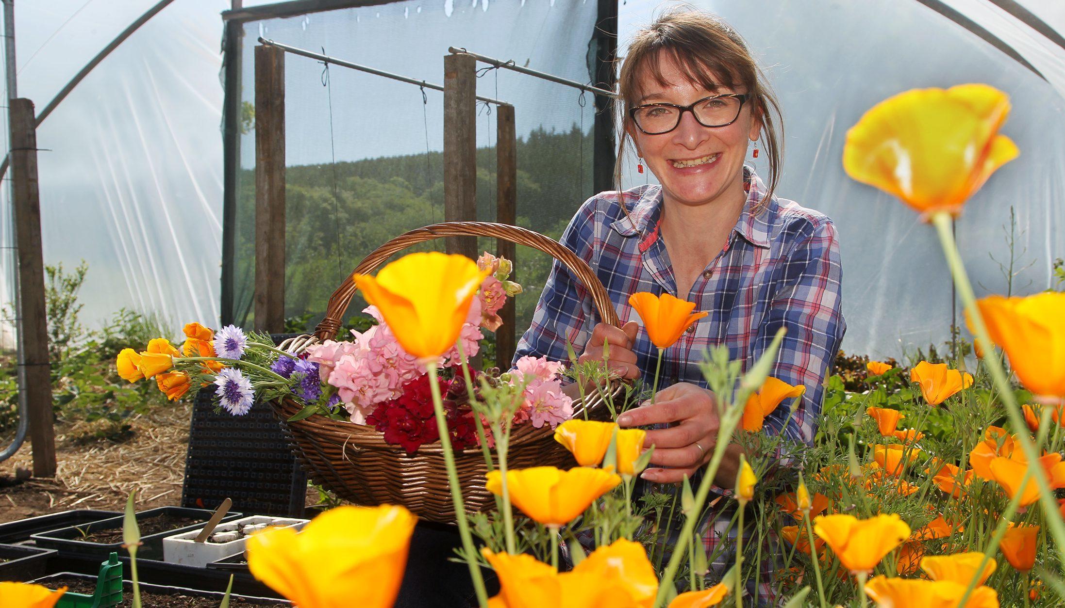 Kelly Orr of  Blooming Bees, Wardmill Farm, Battledykes near Forfar.