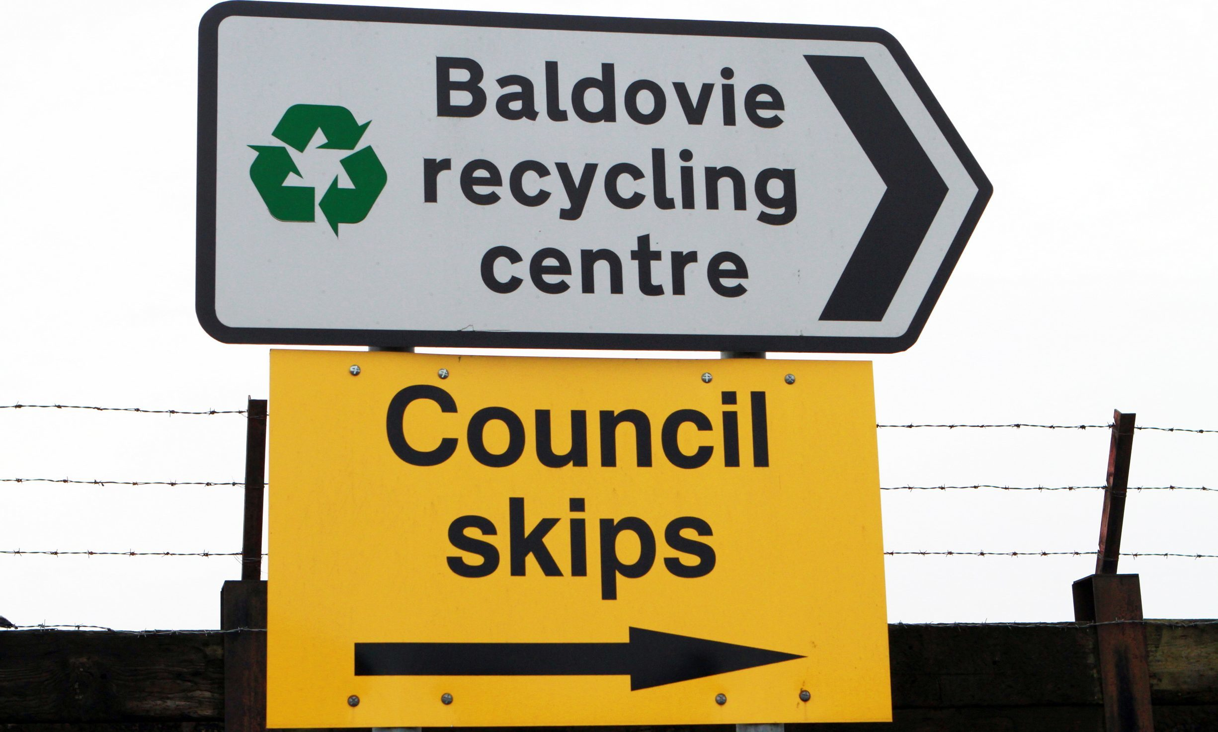 Baldovie skip in Dundee