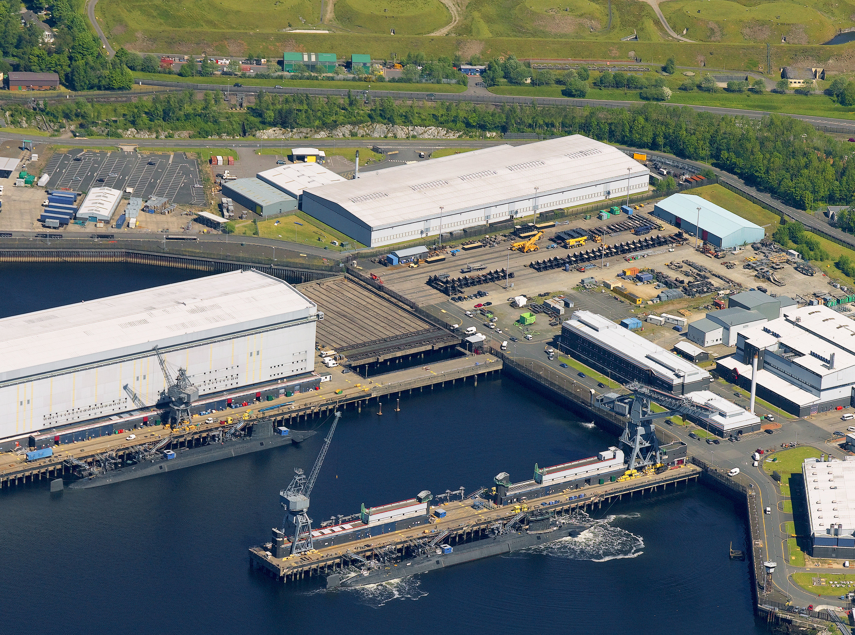 Faslane is the sole base for HMS Vanguard, HMS Victorious, HMS Vigilant and HMS Vengeance, the four Vanguard-class submarines which carry the UK's Trident nuclear deterrent.