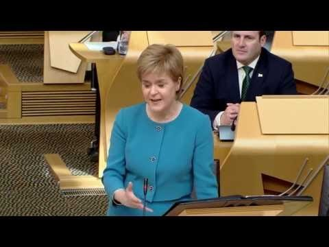 Nicola Sturgeon at First Minister's Questions