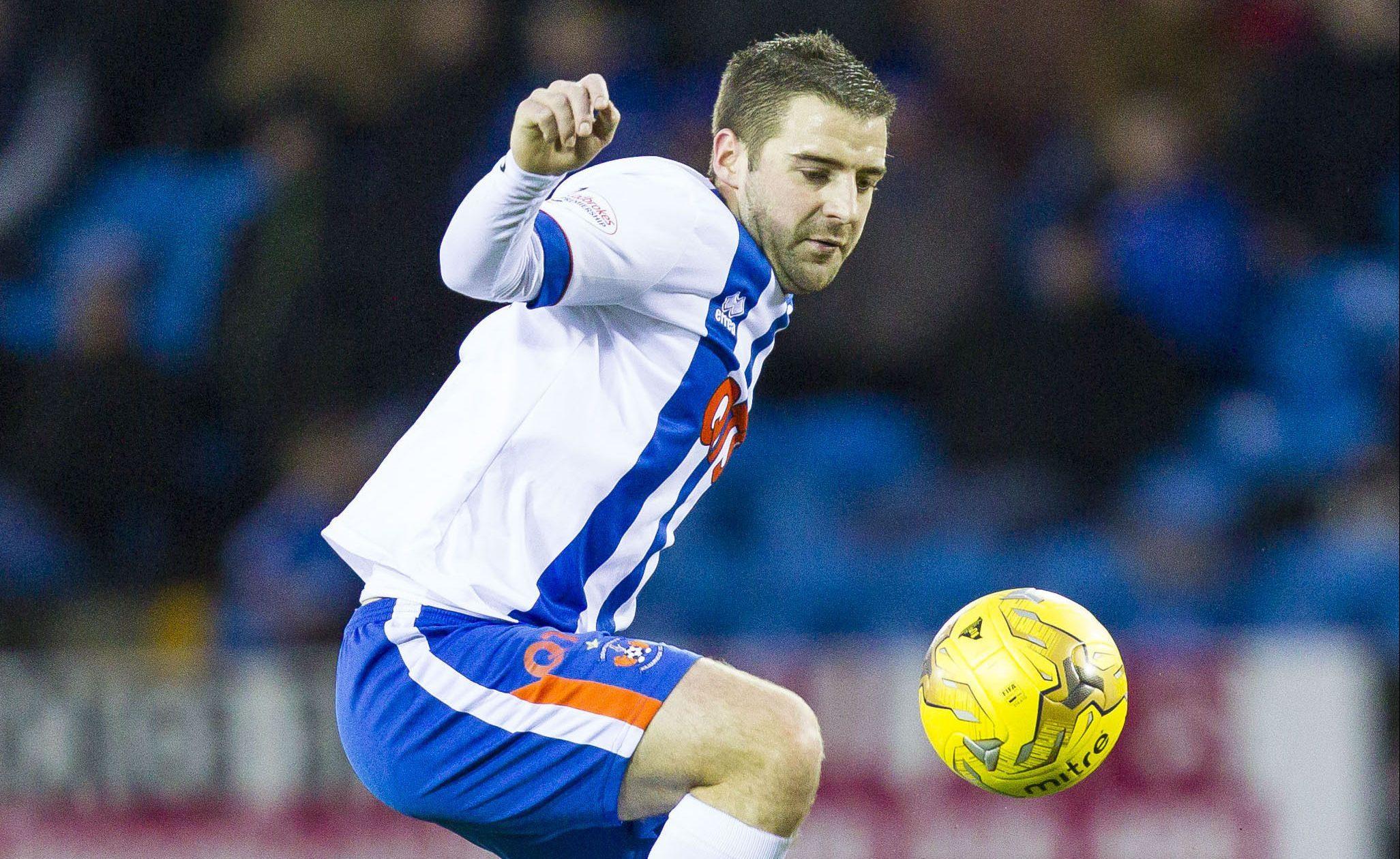 Scott Robinson in action for Kilmarnock