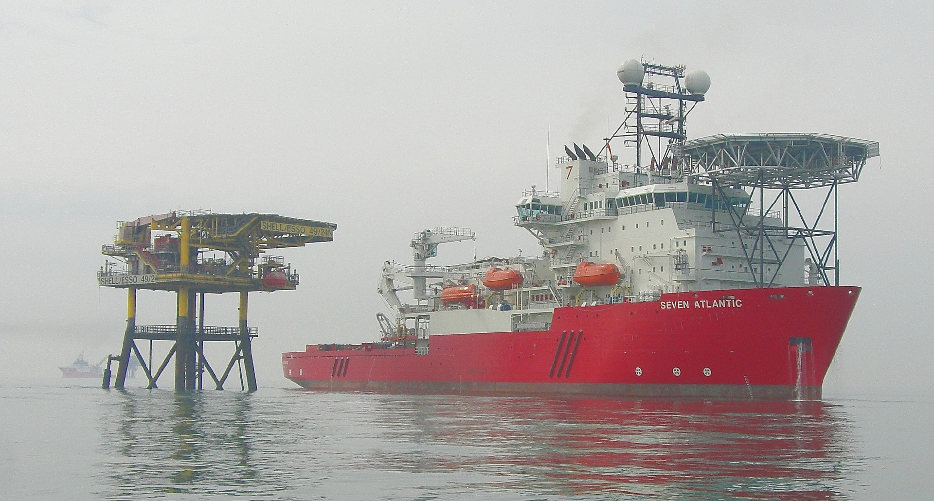 Subsea 7's Seven Atlantic vessel on operations in the North Sea