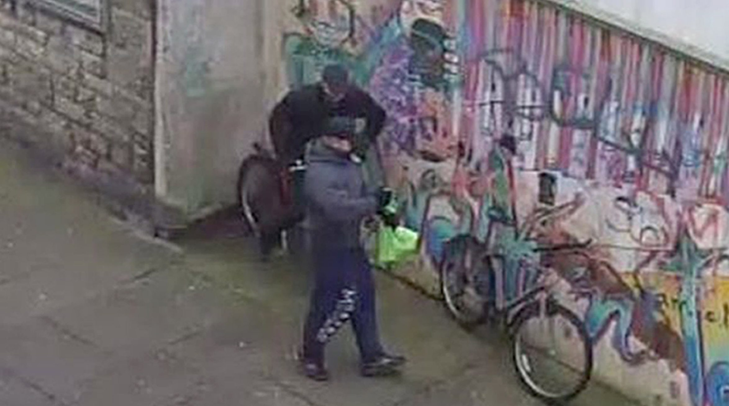 CCTV images of two men police want to trace in connection with the armed robbery in Kirkcaldy.