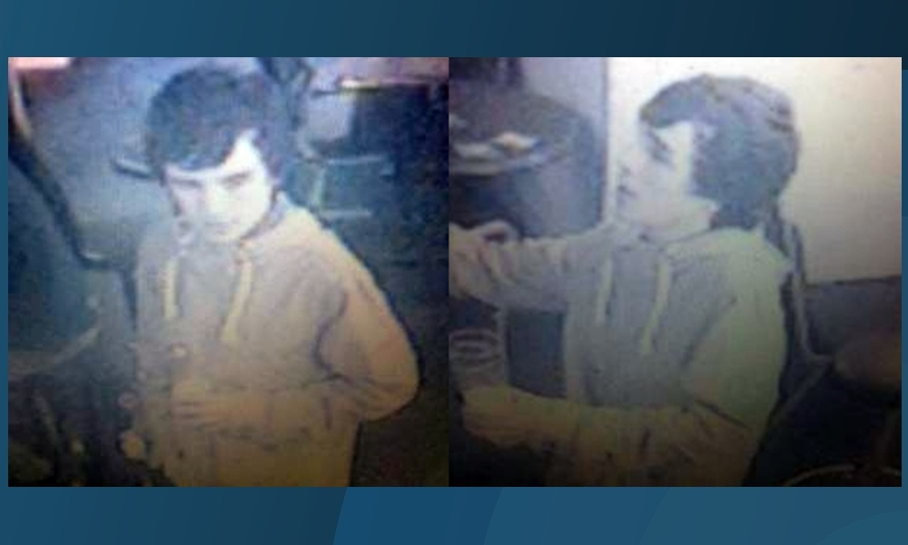 CCTV images of a man police wish to trace in connection with the incident.