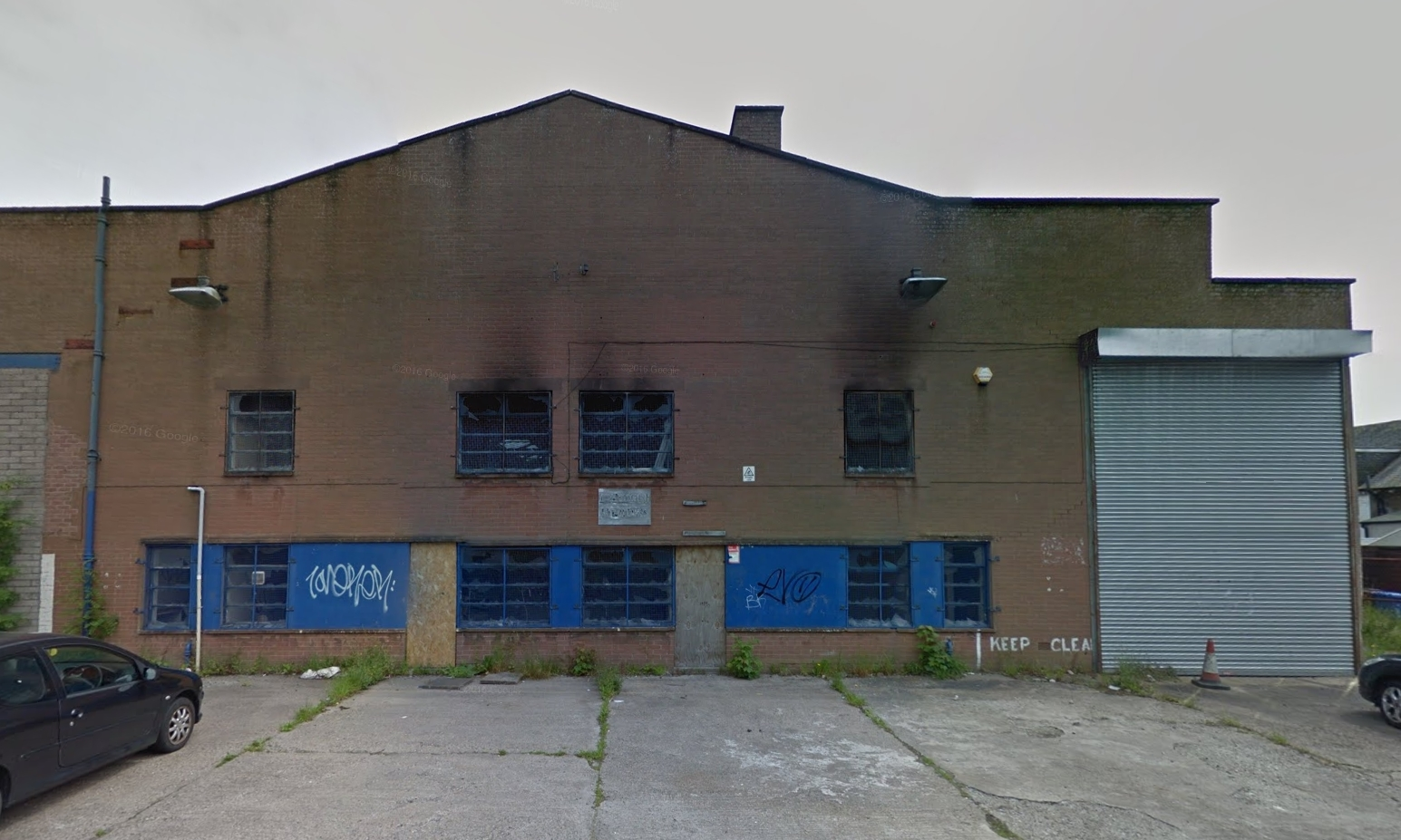 The unit in Gray Street in Lochee that will make way for housing.