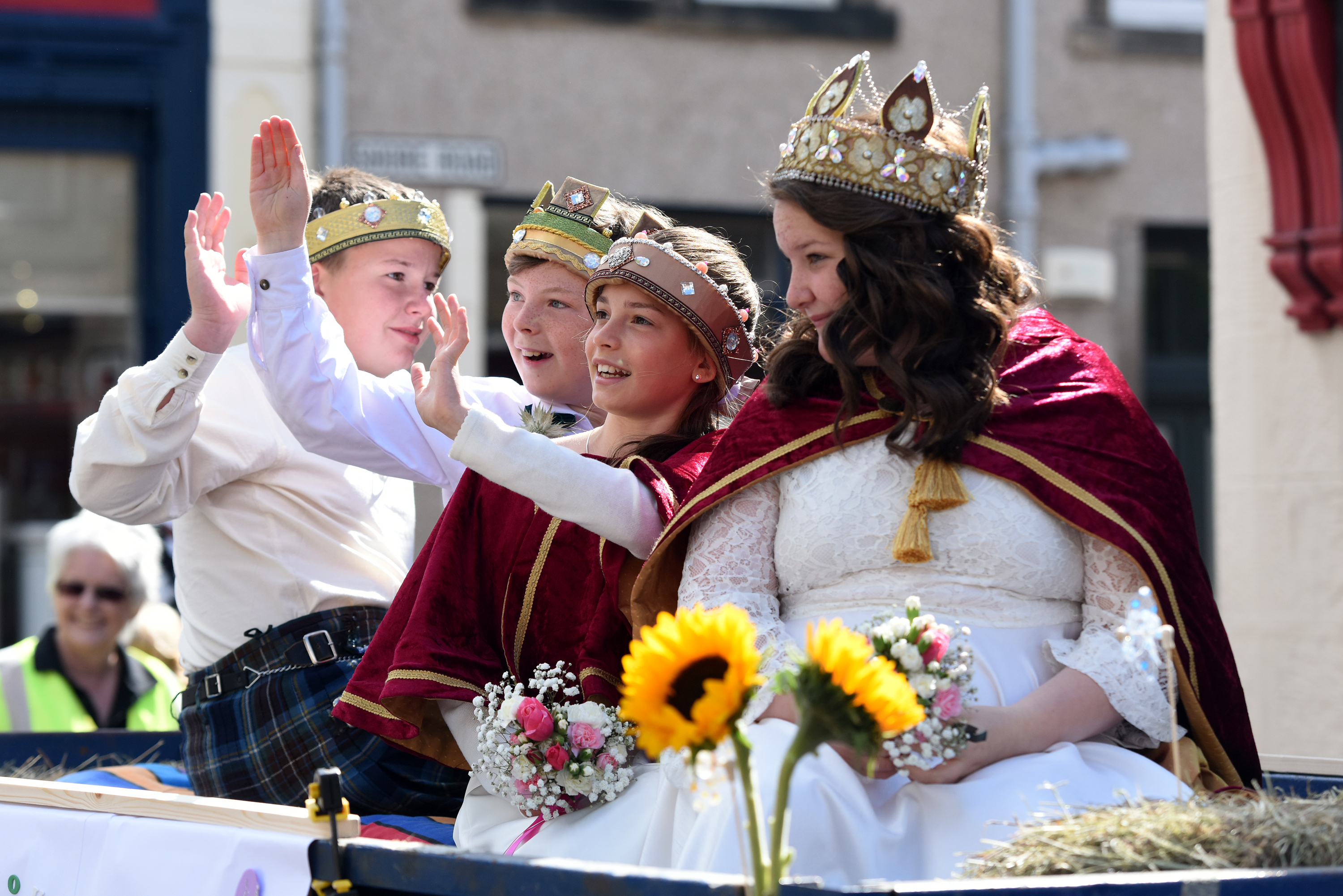 The royal party at last year's festival parade.