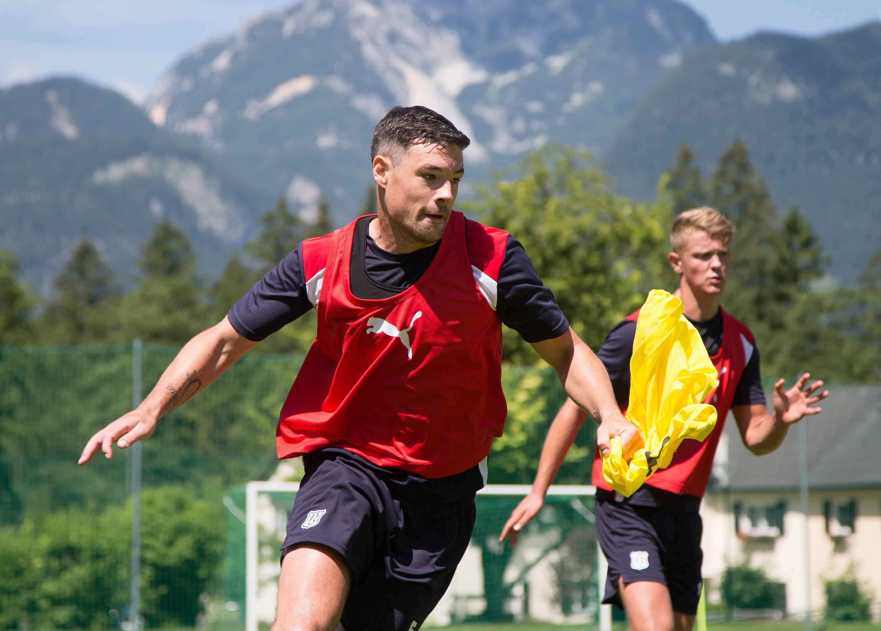 Darren ODea in training at Obertraun.