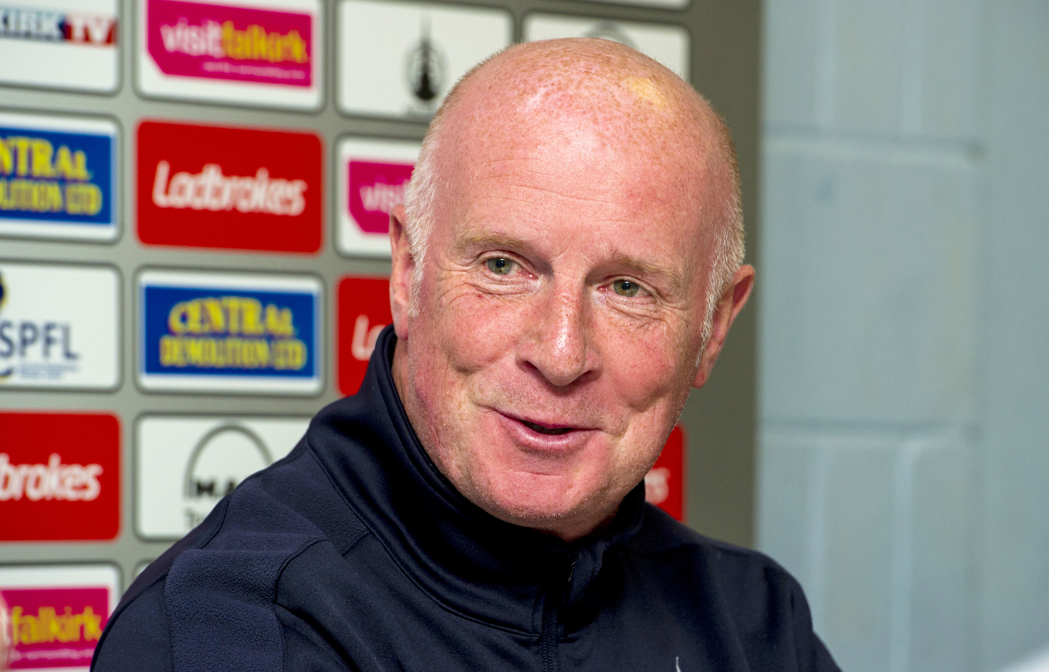 Former United boss and current Falkirk manager Peter Houston.