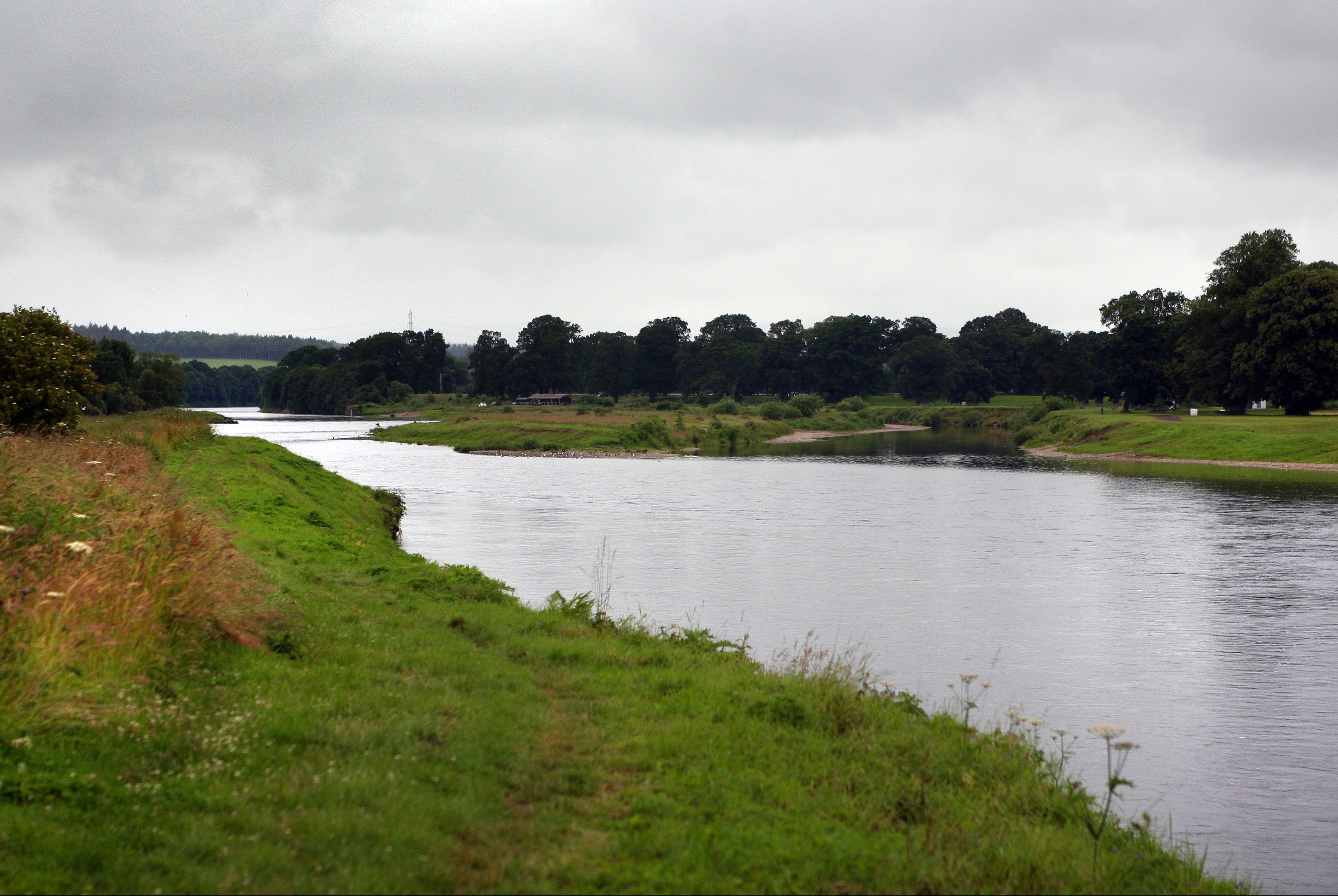 The river Tay near Muirton, Perth.