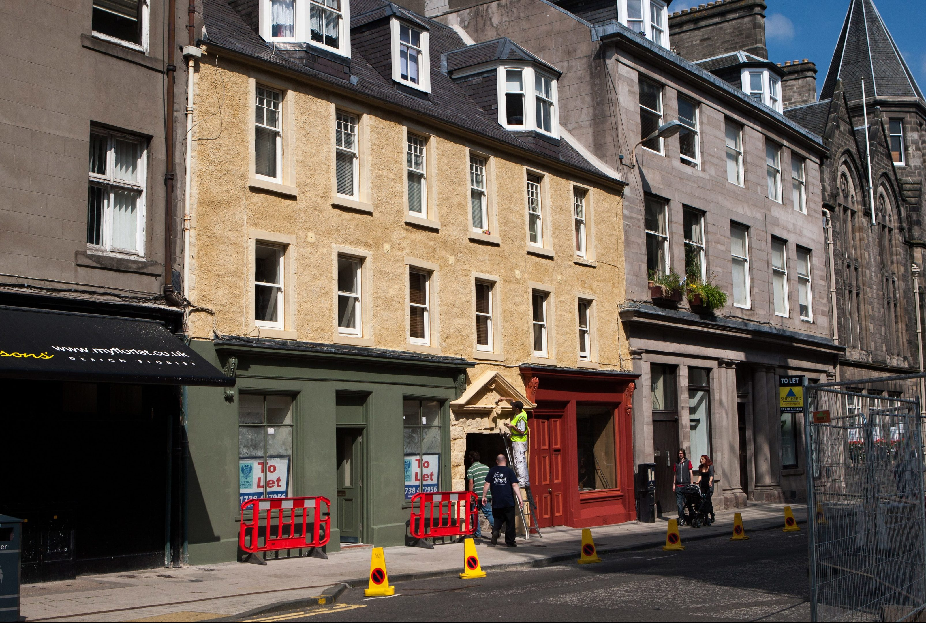 The Cunningham Graham Close and Tenement Properties project in Perth High Street.