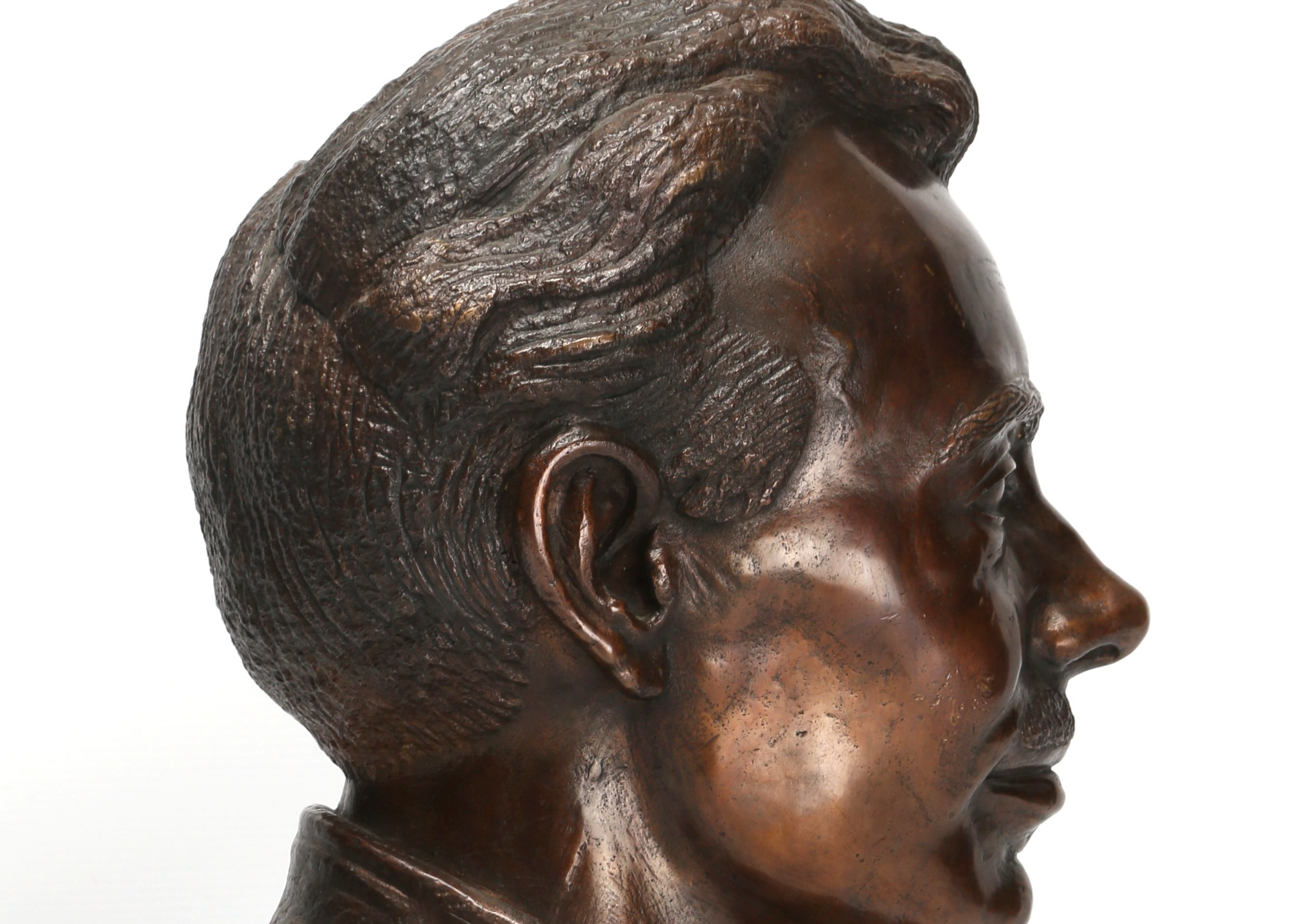 The bronze bust going up for auction.