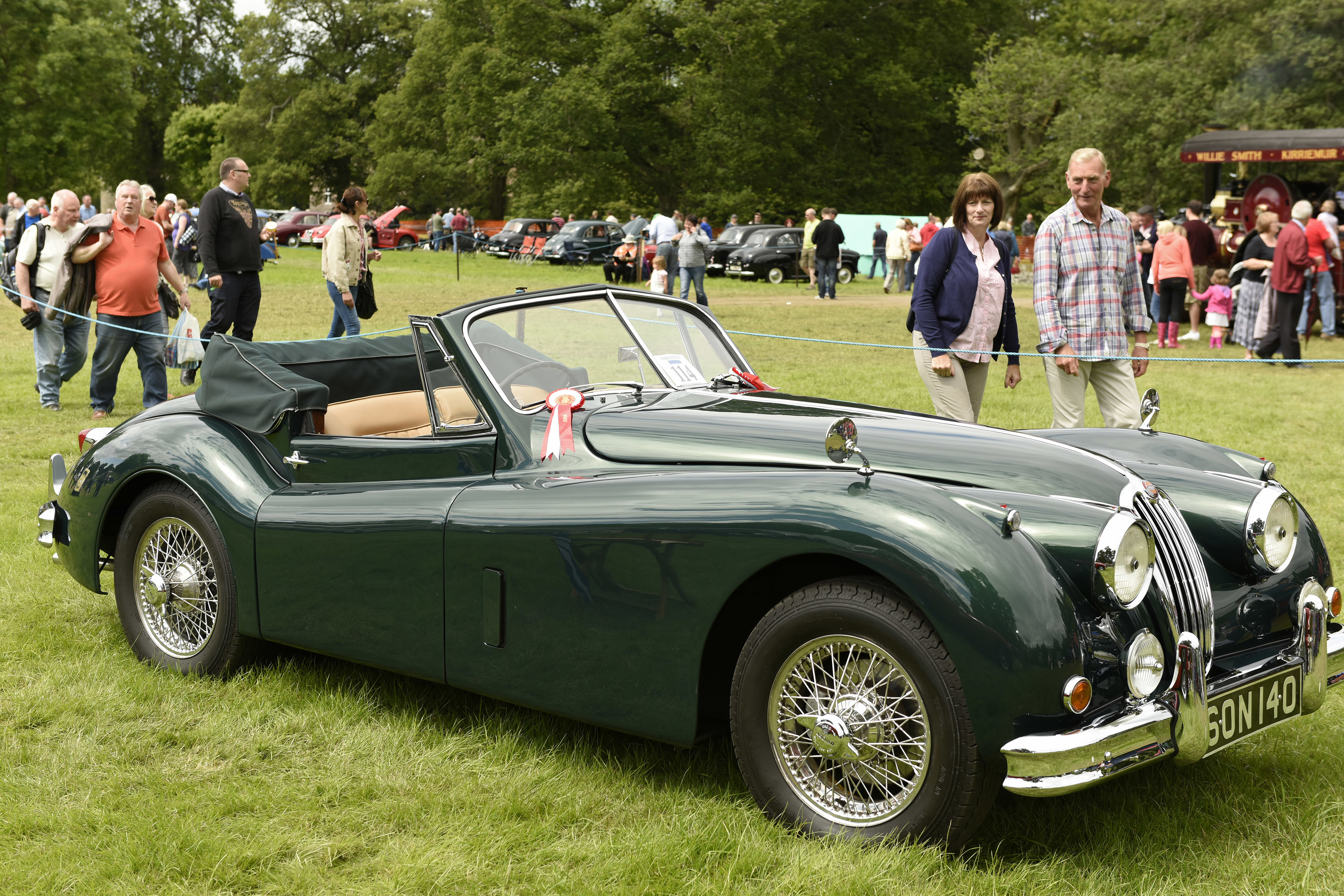 The extravaganza attracts an array of classic and vintage vehicles.