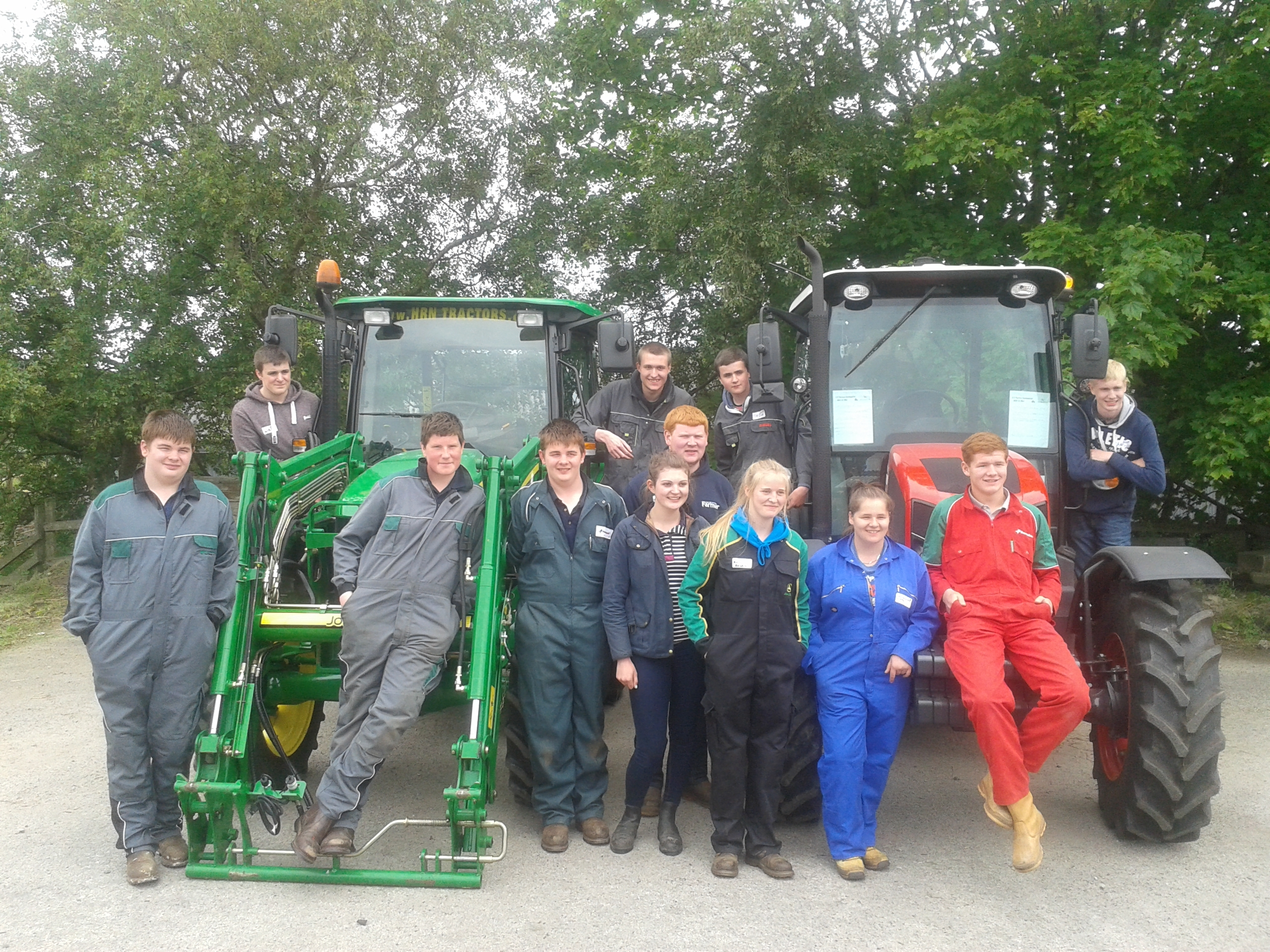 The interns are on farms across the north east