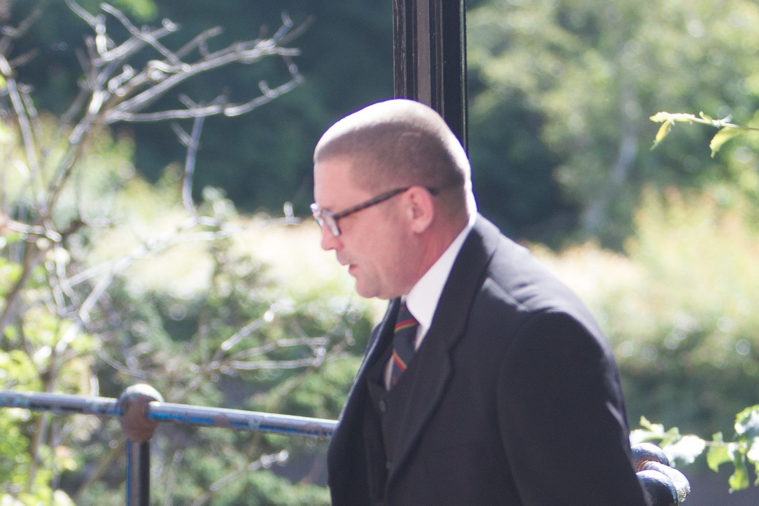 John Sharp arrives at court.