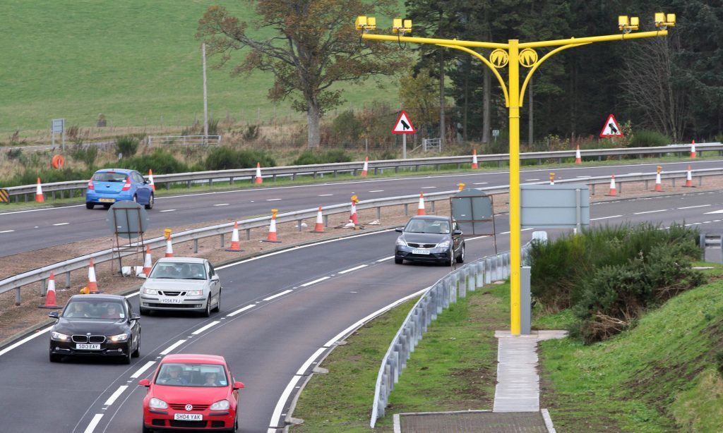 Speed cameras on the A9 at Auchterarder.