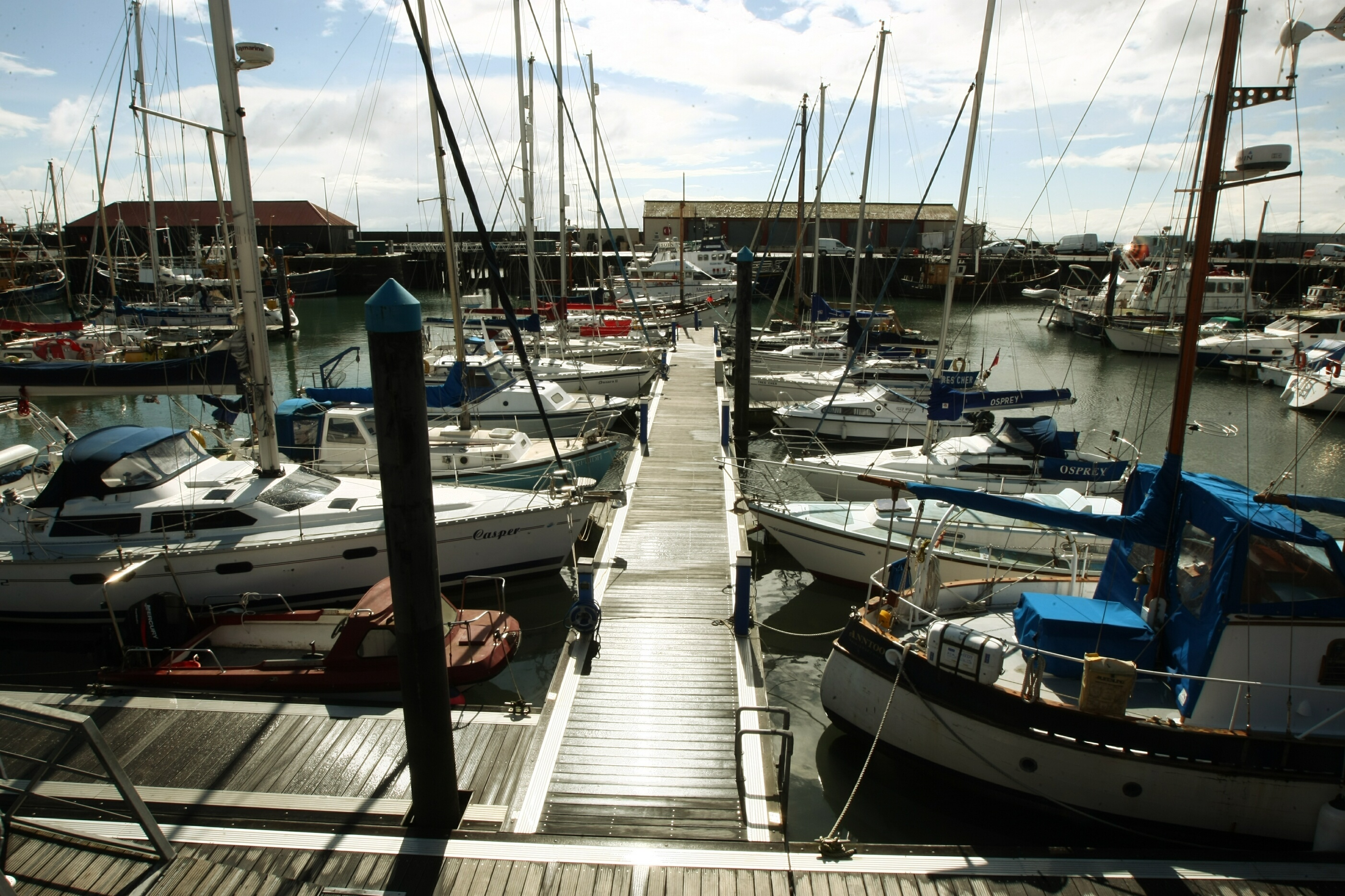 Berths at Arbroath marina have proved popular