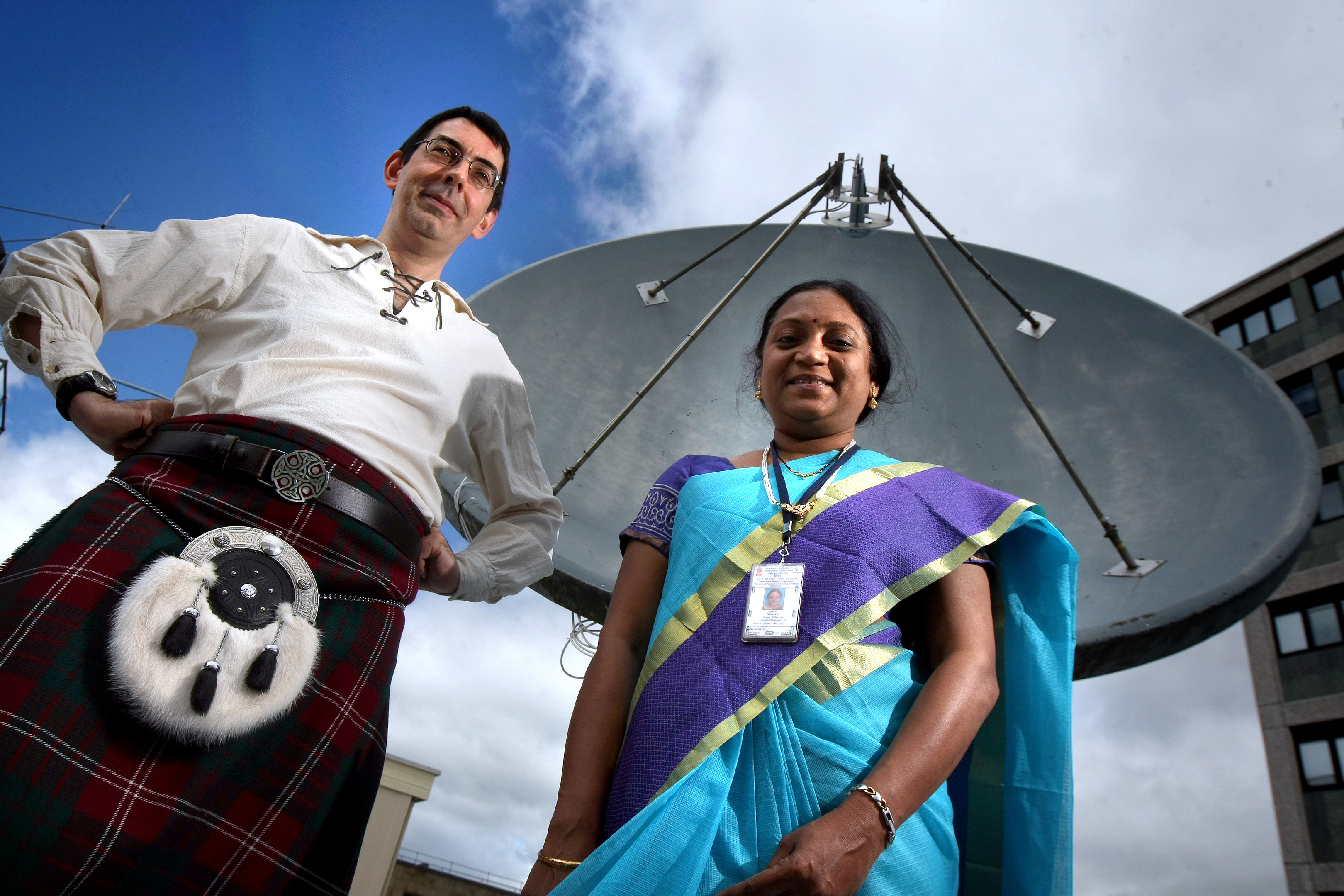Paul Crawford from Dundee University and Sailaja Poduri from ISRO.