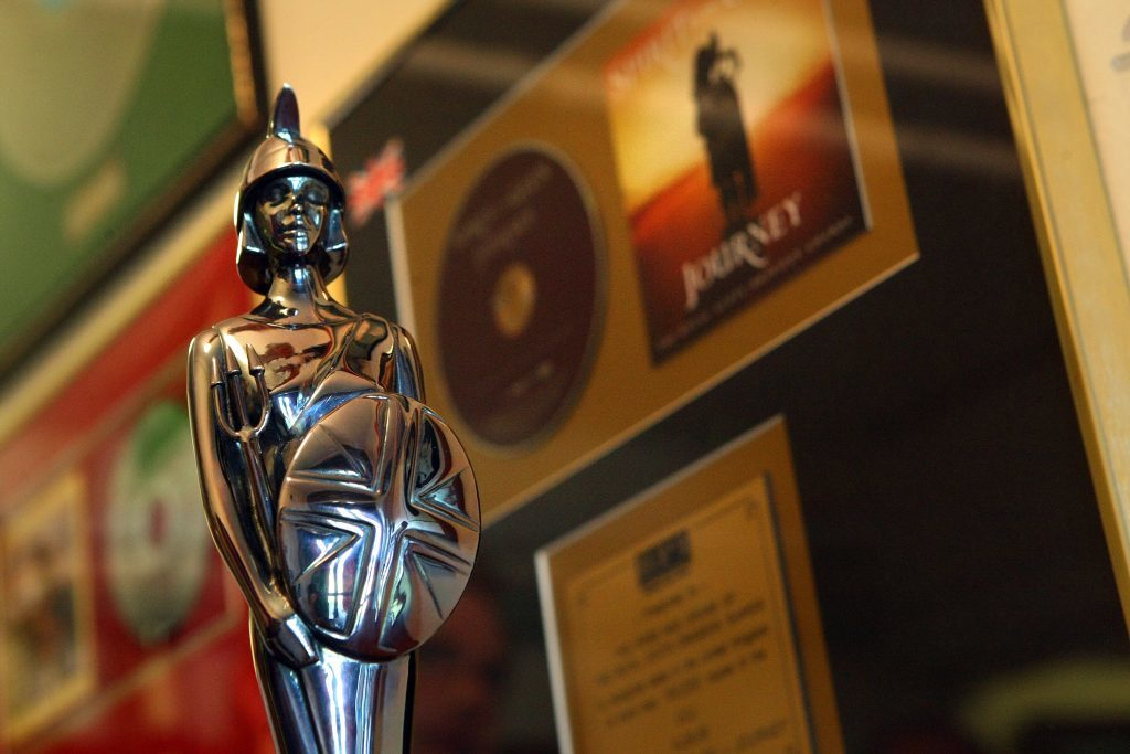 The Classical Brit Award given to SCOTS DG for the album Spirit of the Glen: Journey