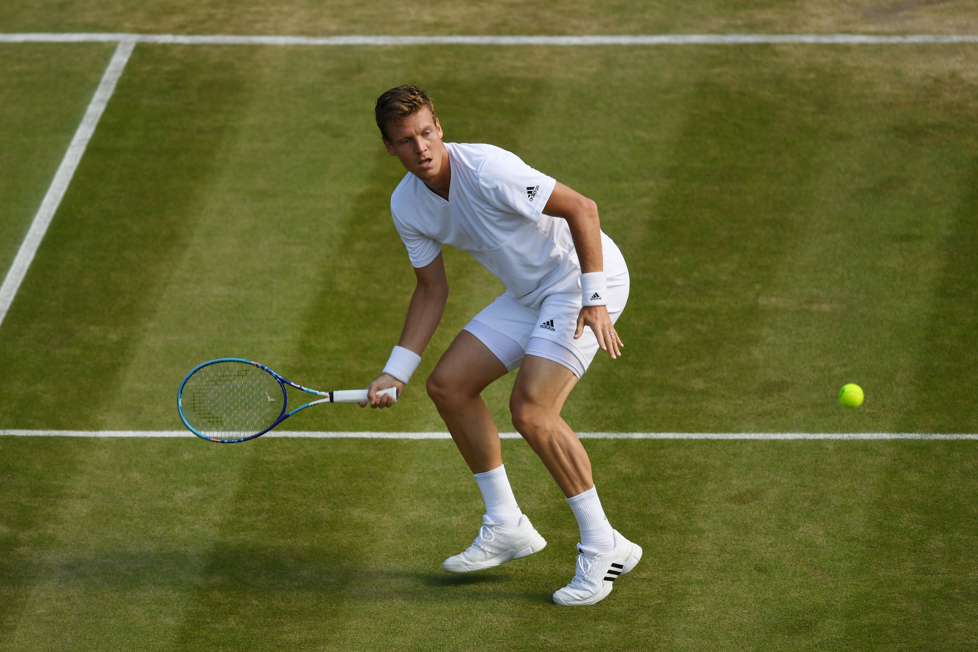 Tomas Berdych takes on Murray in the Wimbledon semi-finals.