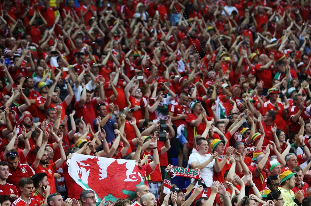 LYON, FRANCE - JULY 6, 2016: Wales' fans react after the 2016 UEFA European Football Championship semifinal match against Portugal at Stade de Lyon. Team Portugal won the game 2-0. Alexander Demianchuk/TASS (Photo by Alexander DemianchukTASS via Getty Images)