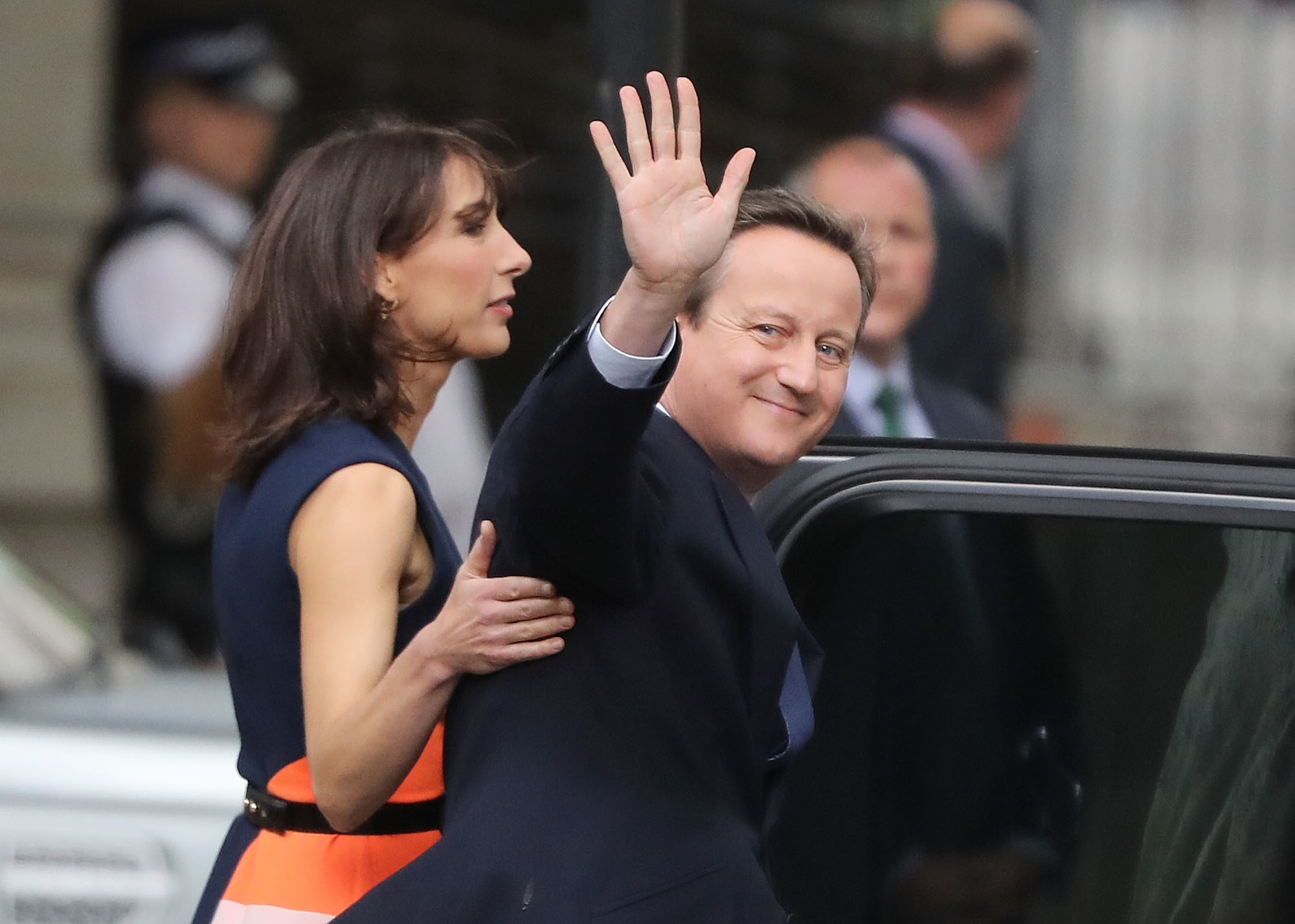 David Cameron and his wife Samantha leave Number 10 Downing Street after his resignation as Prime Minister earlier this year.