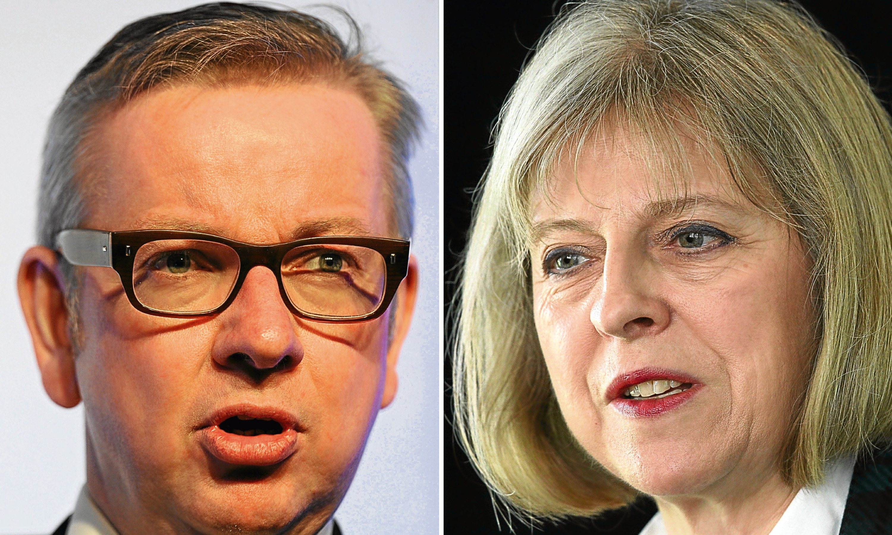 Prime Ministerial candidates Michael Gove and Theresa May