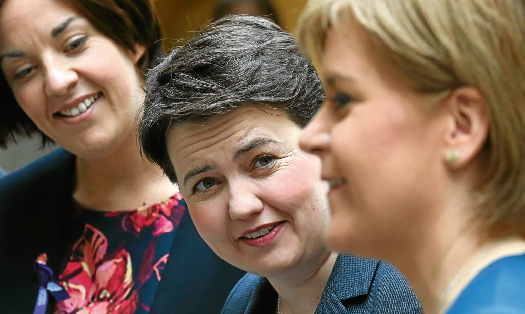 Ruth Davidson is proving more popular than her fellow leaders, according to the new poll