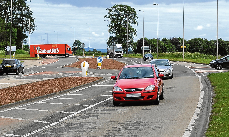The Balfarg junction at Glenrothes.