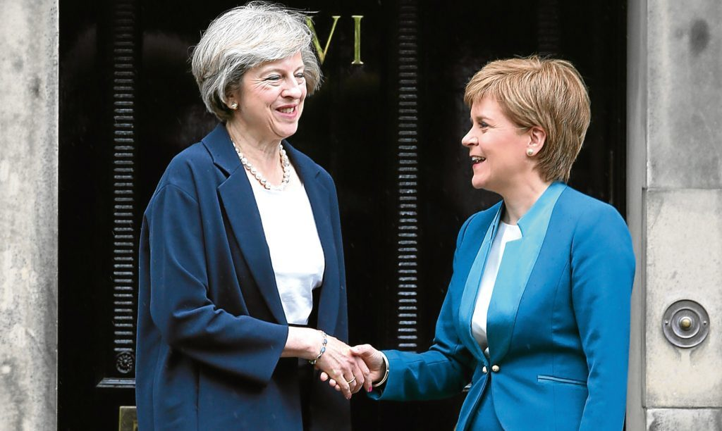 Prime Minister Theresa May and First Minister Nicola Sturgeon.