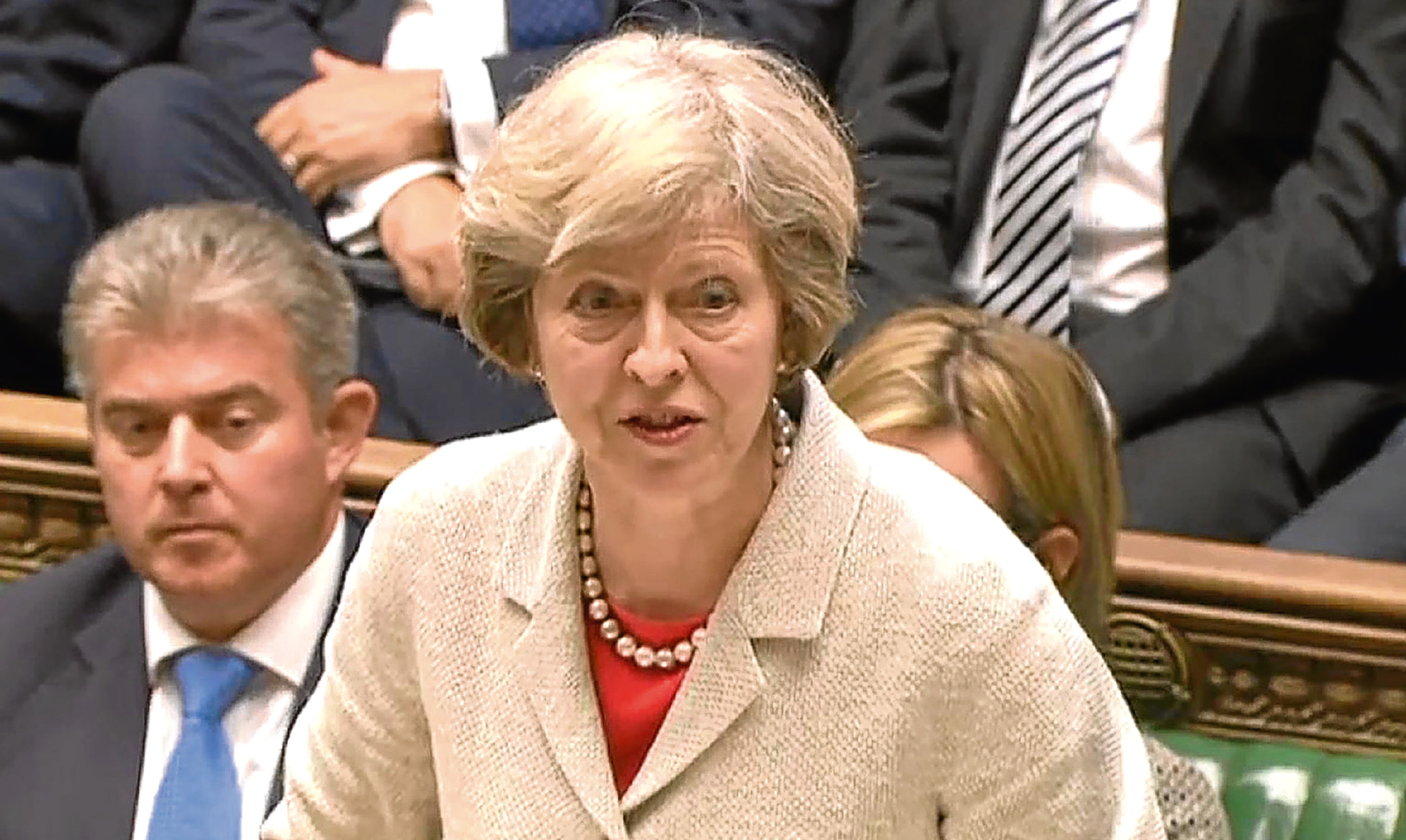 Prime Minister Theresa May during the Trident renewal debate