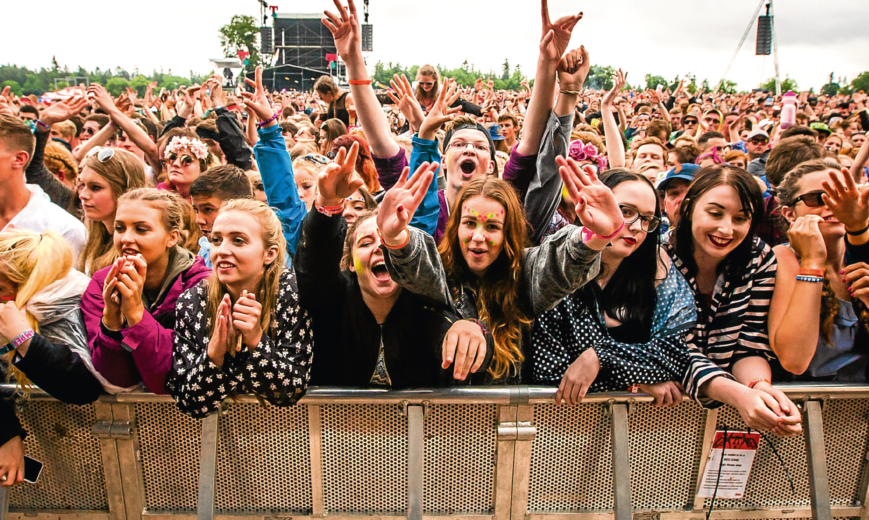 The crowds at T in the Park, 2016.