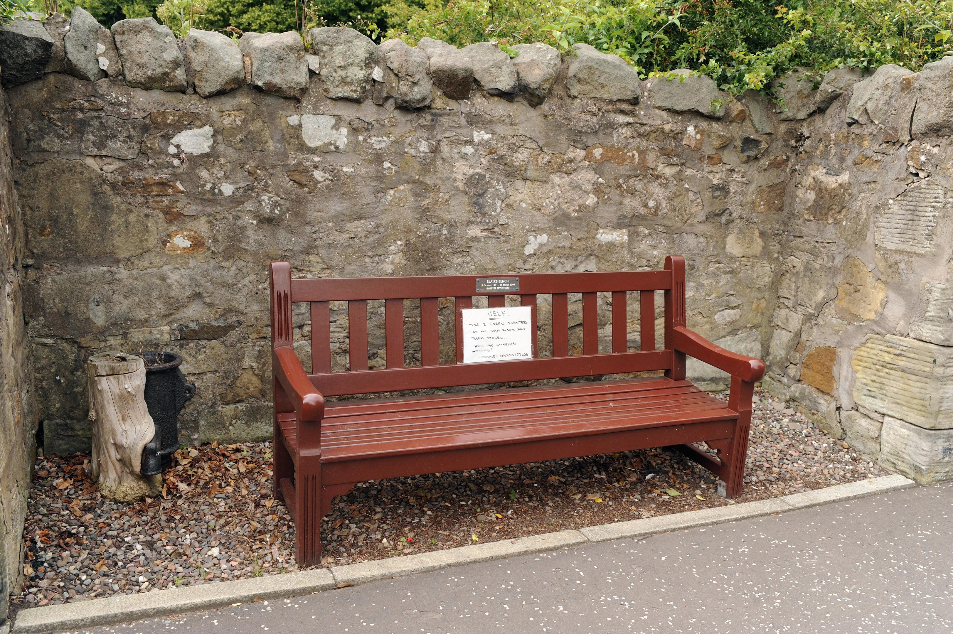 Blair's bench.