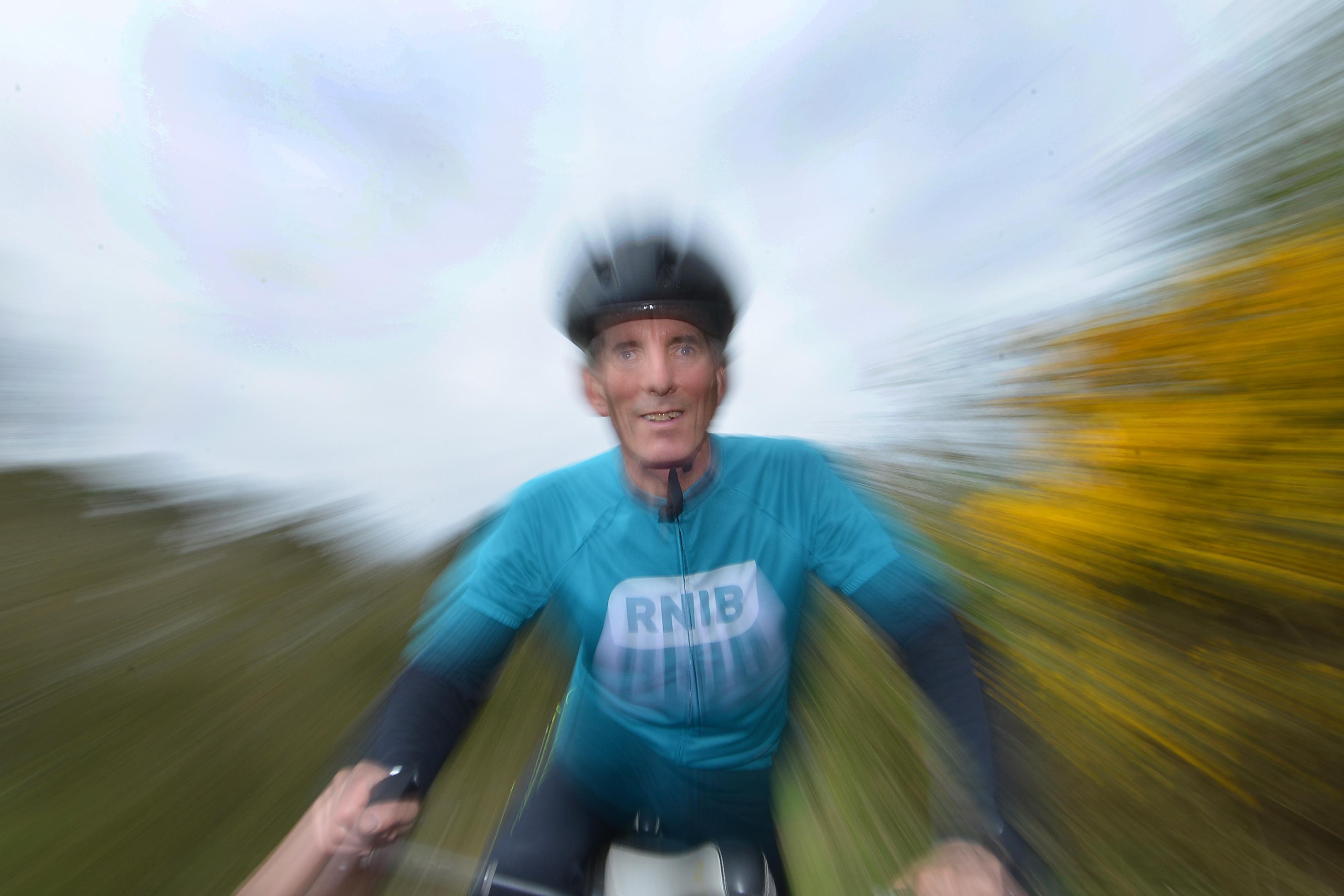 Ken on his bike. Photo courtesy of Jon Savage Photography.