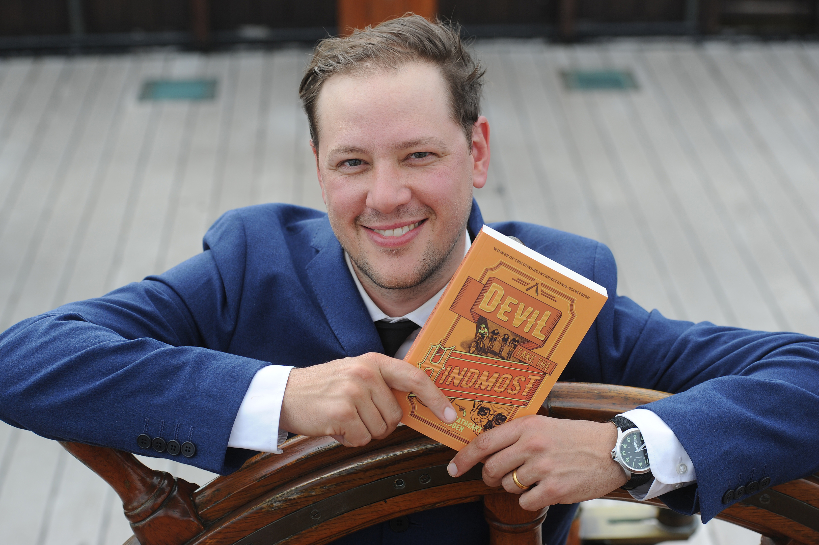 Last year's winner of the Dundee International Book Prize, Martin Cathcart Froden, launched his prizewinning publication Devil Take the Hindmost on the RSS Discovery.