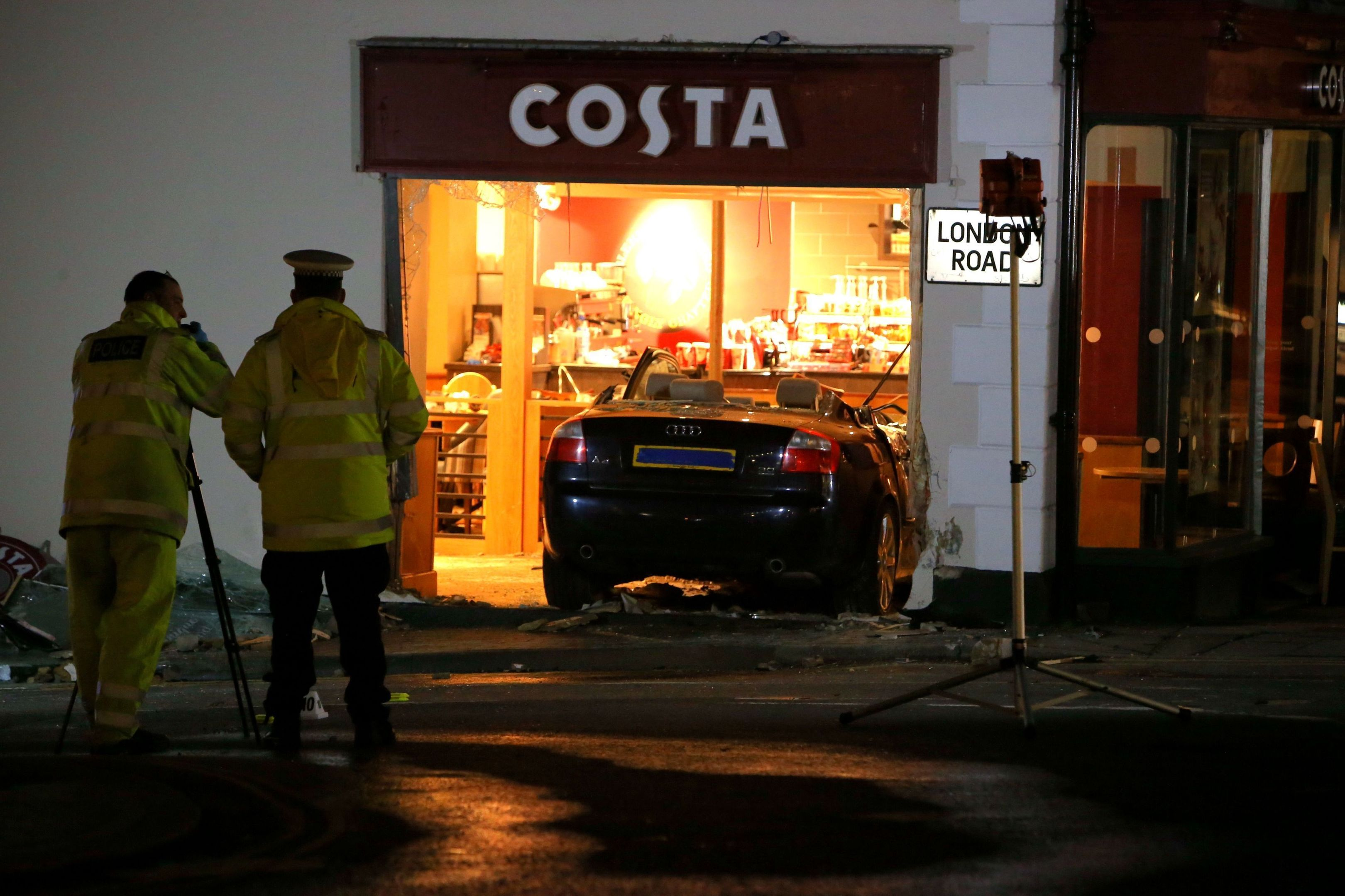 Valerie Deakin died after a car crashed into a Costa coffee shop.