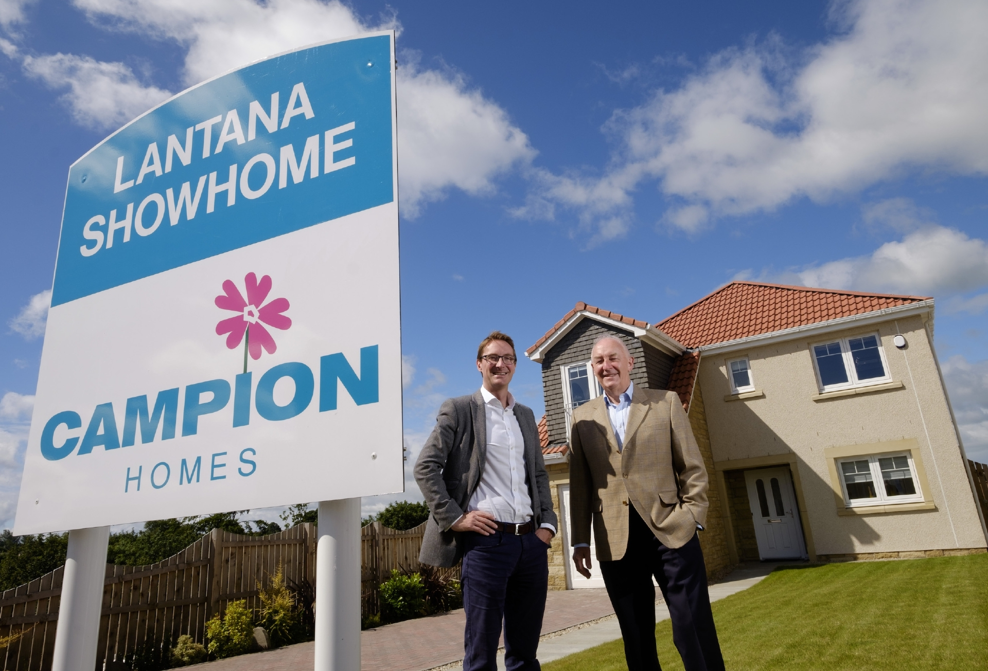 BGF investor Patrick Graham with Campion Homes chairman Pete Bell.