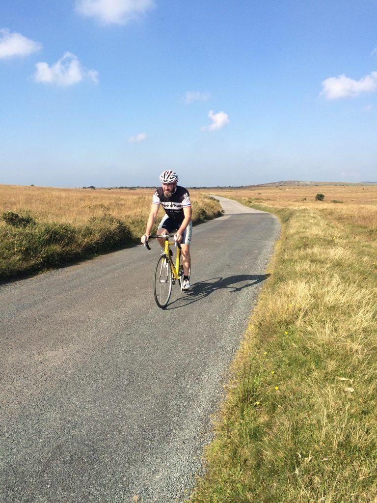 Cycling Across Bodmin Moor cornwall