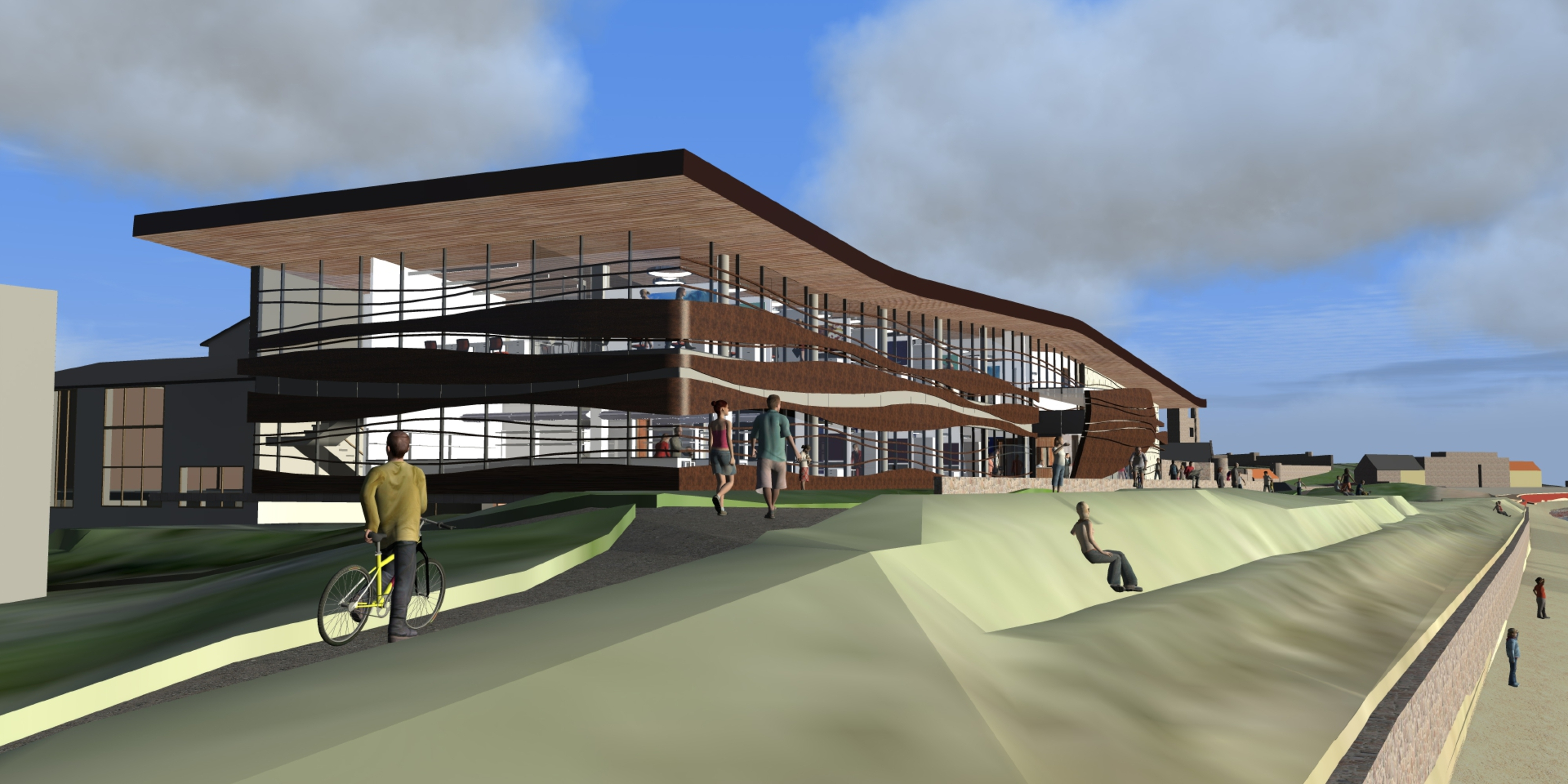 An artist's impression of the Gatty Marine Lab at St Andrews East Sands