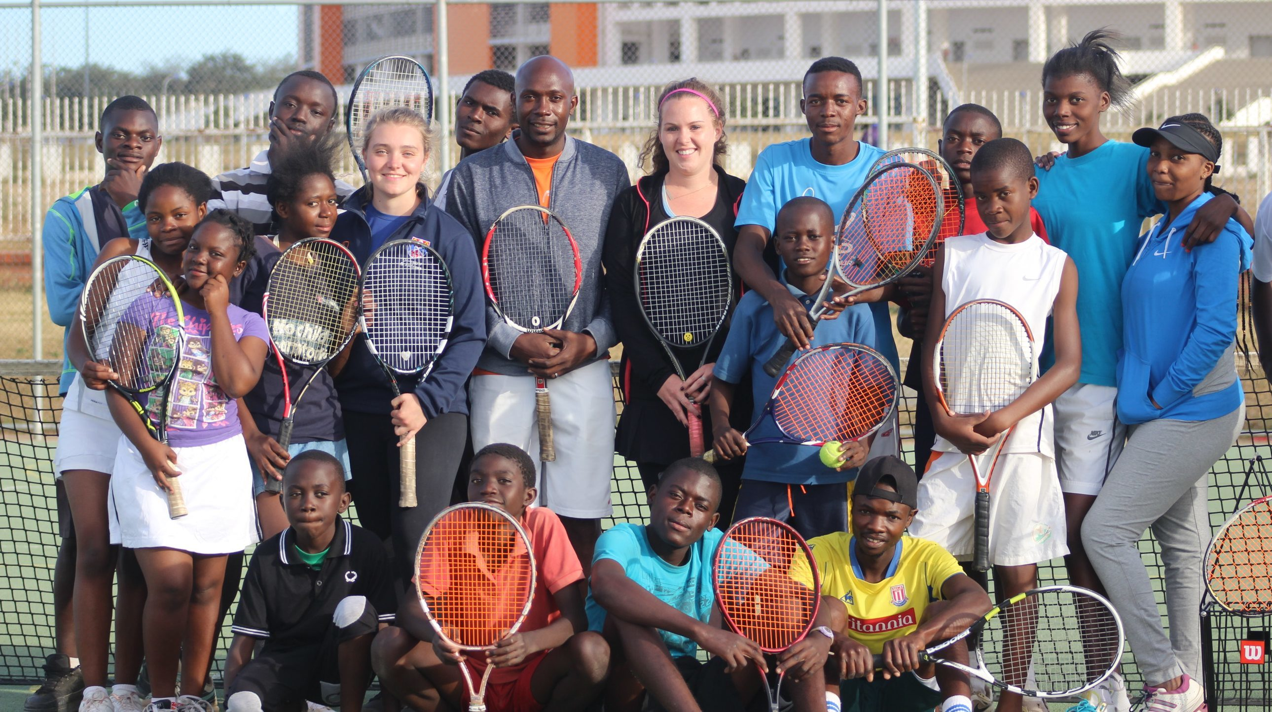 Students from St Andrews with the group in Zambia
