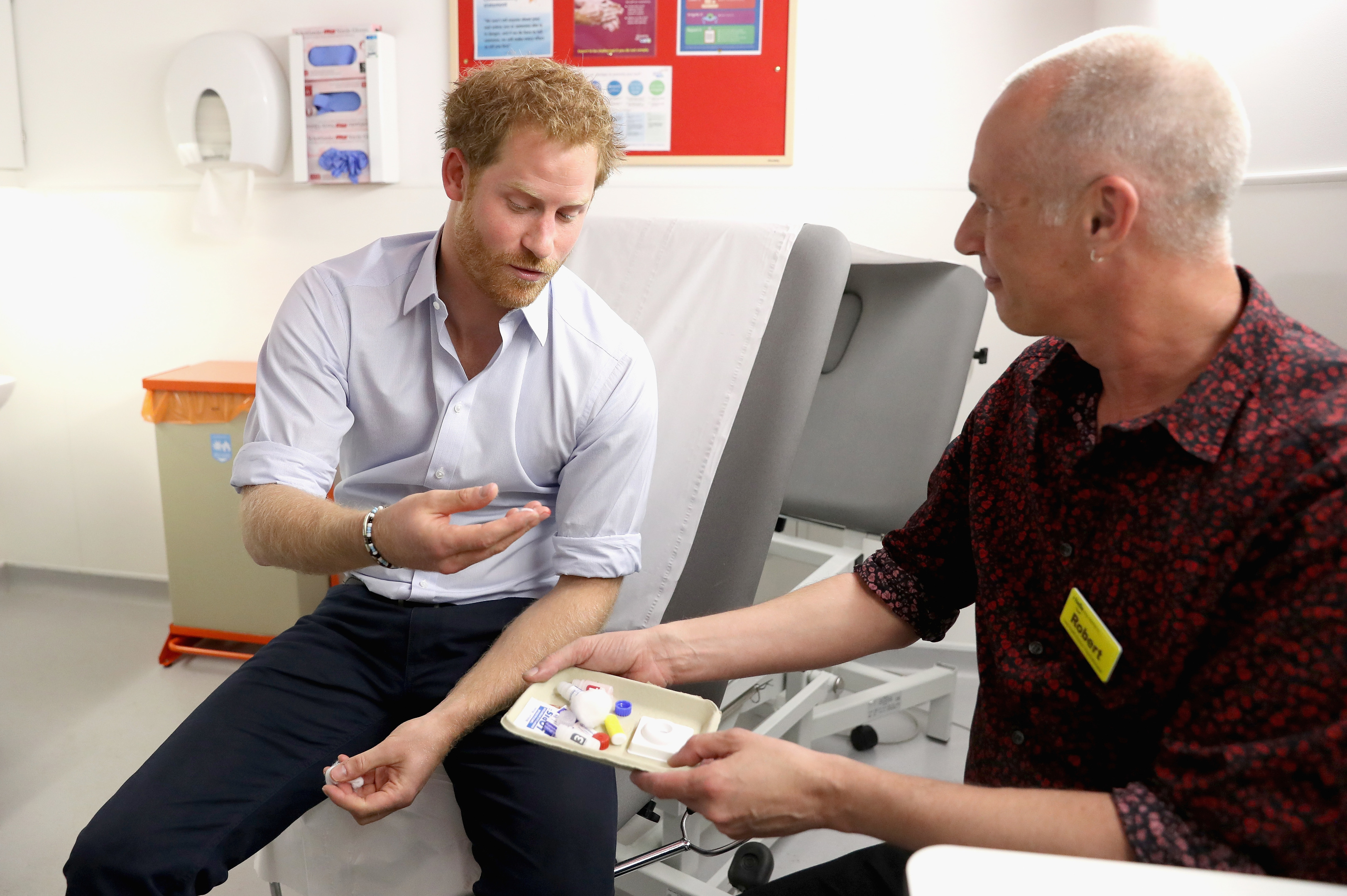 Prince Harry gets his test results.
