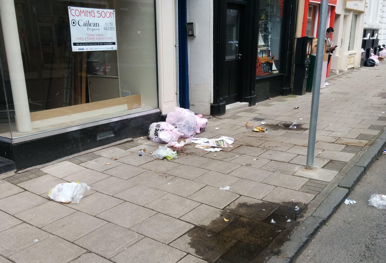 Rubbish in George Street.