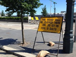 More road closures are due to start on Monday