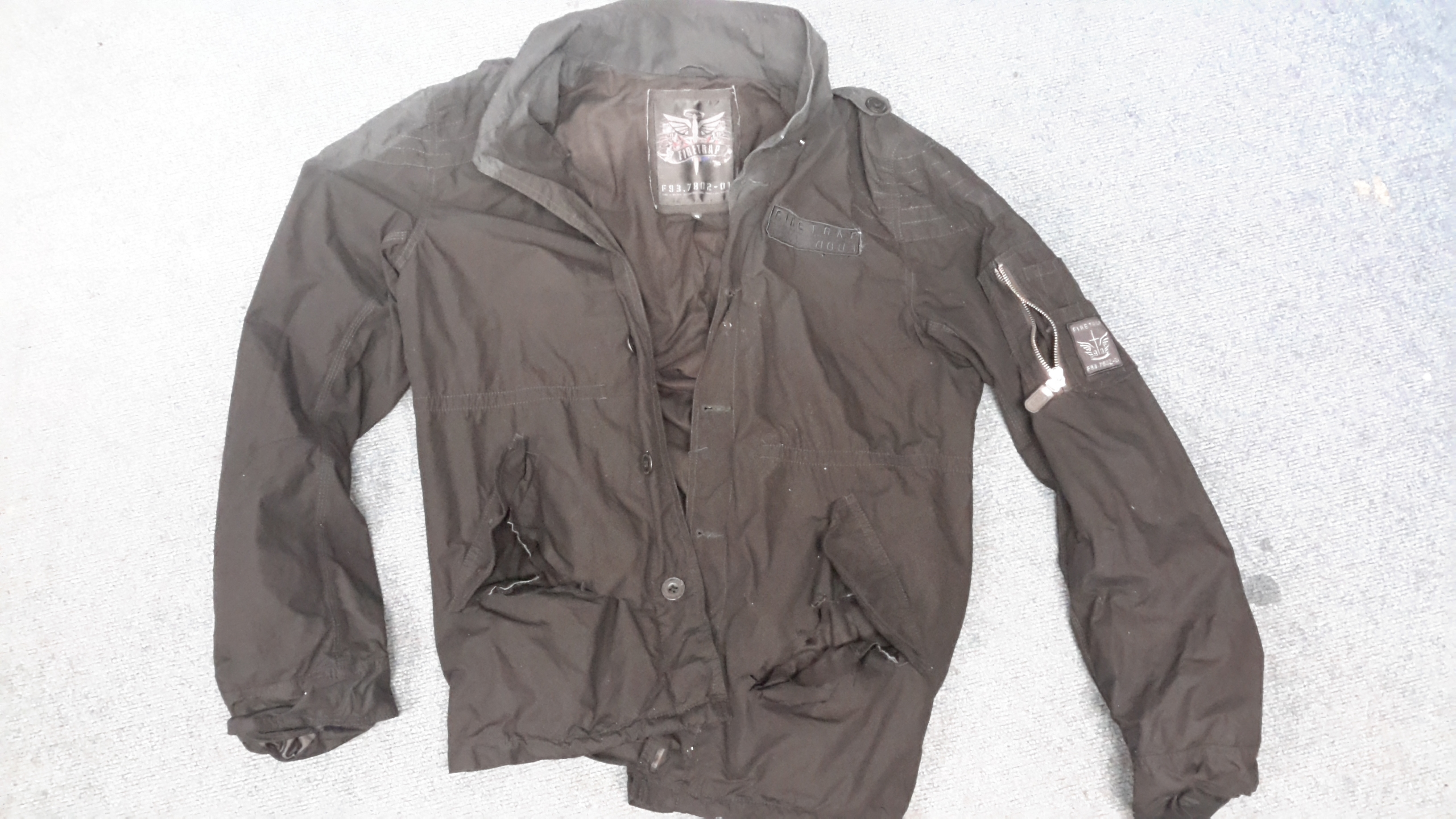 The jacket that was found.