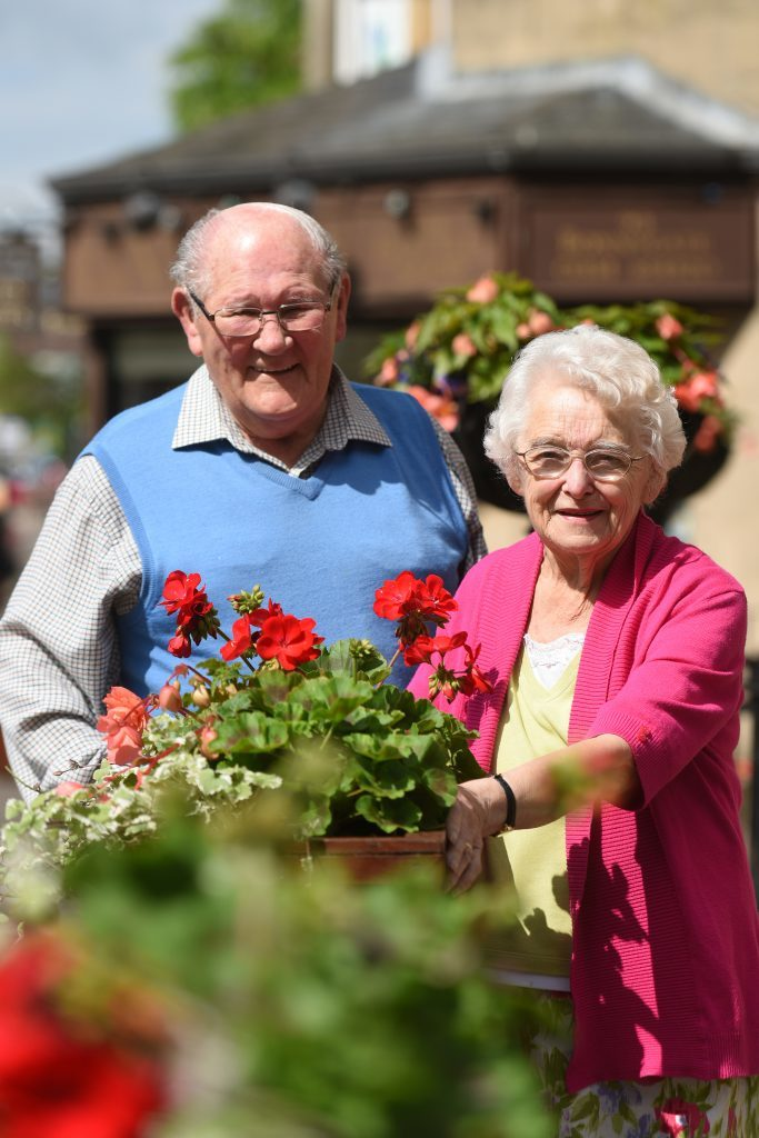 Ronnie and Mary Law in Cupar town centre