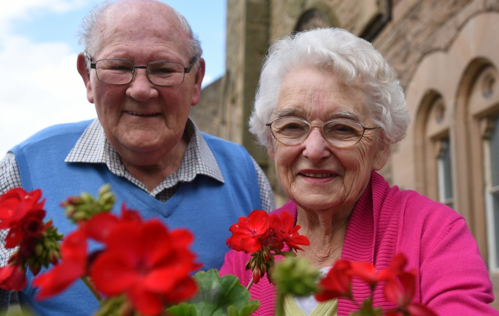 Ronnie and Mary Law of Cupar in Bloom