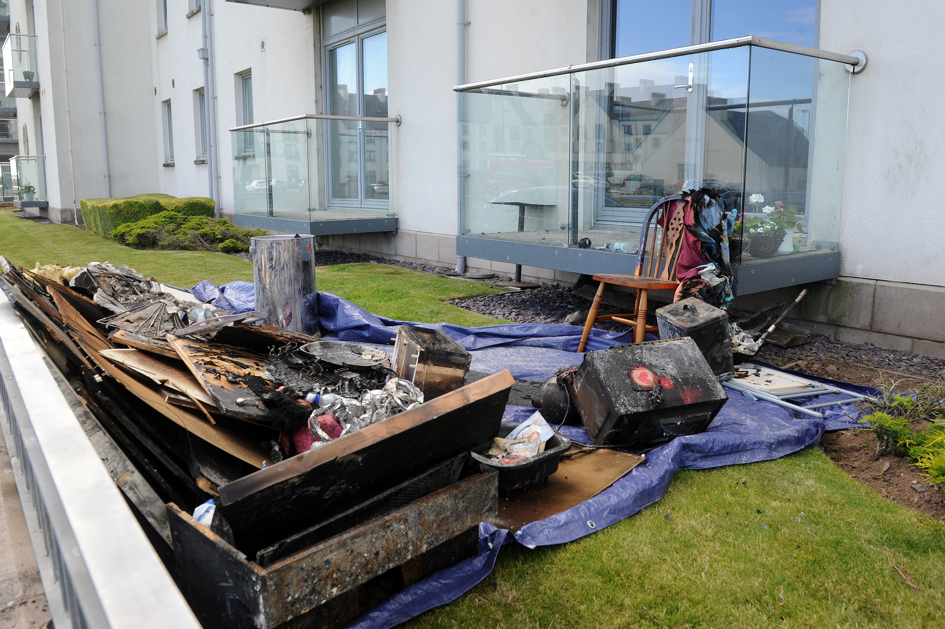 Items destroyed by the fire on Saturday night.
