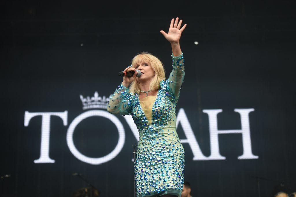 Toyah on stage.